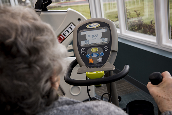 Woman on NuFit machine