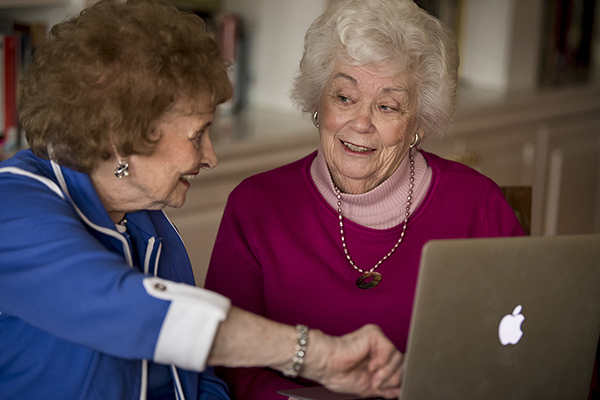 Ladies on laptop